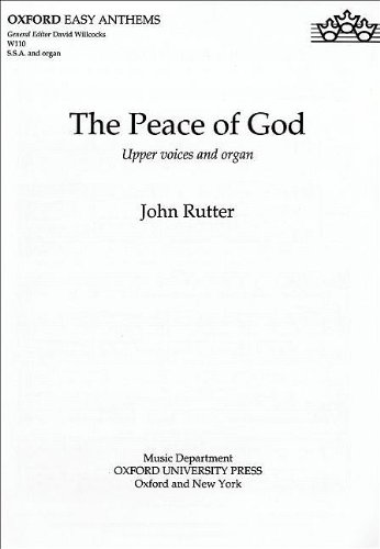 9780193426092: The Peace of God: SSA vocal score