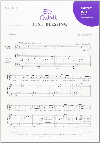 9780193432291: Irish Blessing: SATB vocal score (The Oxford choral songs)