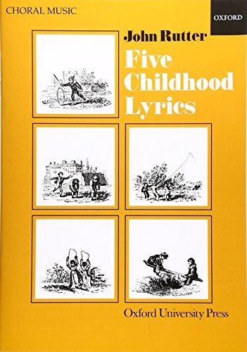 9780193437166: Five Childhood Lyrics: Vocal score
