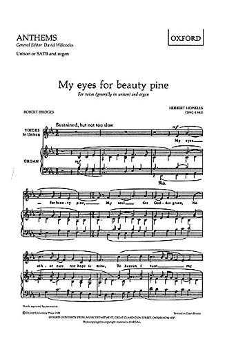 9780193501126: My eyes for beauty pine: Vocal score