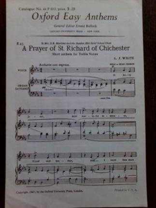 9780193510357: A Prayer of St Richard of Chichester: Vocal score