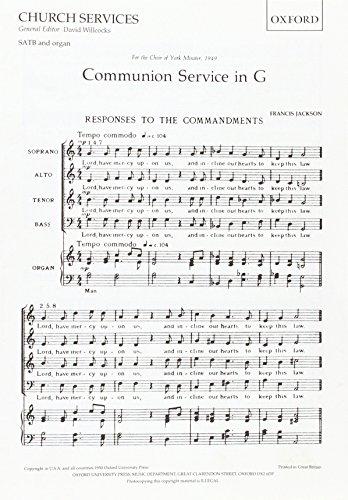 9780193515550: Communion Service in G