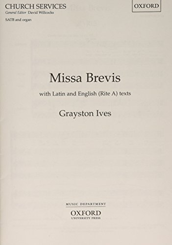 9780193516694: Missa Brevis: Vocal Score (Oxford church services)