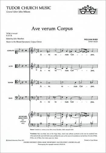 9780193520066: Ave verum Corpus: Vocal score (Tudor Church Music)