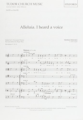 9780193520905: Alleluia. I heard a voice: Vocal score (Tudor Church Music)