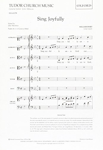 Sing Joyfully: Vocal score