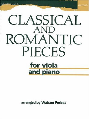 9780193565012: Classical and Romantic Pieces for Viola and Piano