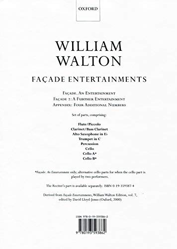 Façade Entertainments: Set of parts (William Walton Edition)