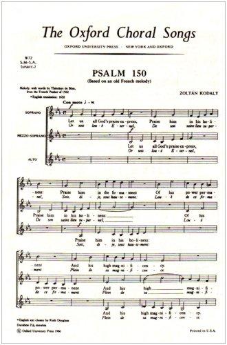 Psalm 150: Vocal score: SSA Unaccompanied: Zoltan Kodaly