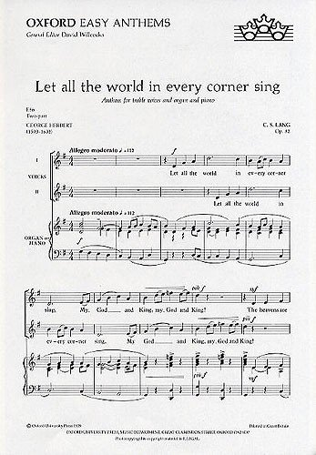 Let all the world in every corner