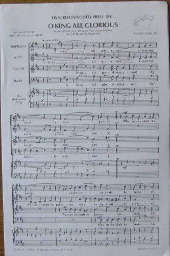 O King all Glorious: Healey Willan (composer)