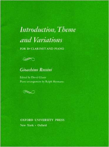 9780193852631: Introduction, Theme and Variations for B♭ Clarinet and Piano