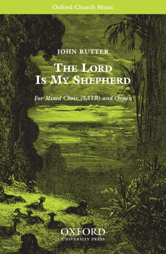 9780193856295: The Lord is my shepherd: Vocal score