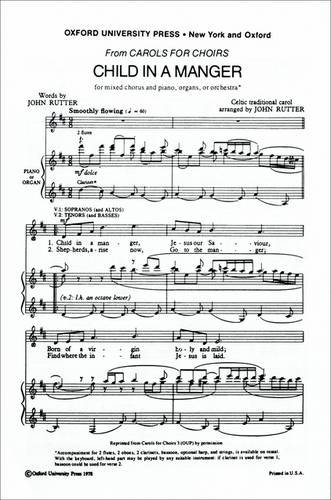 9780193856752: Child in a manger: Vocal score