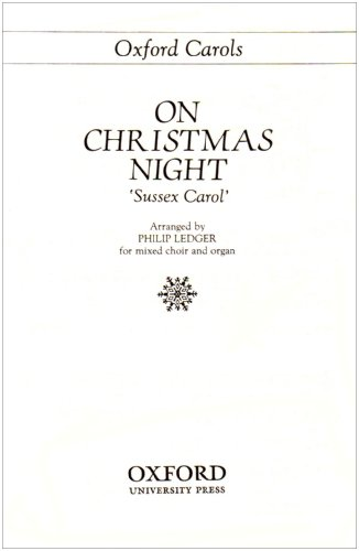 9780193857582: On Christmas night: Vocal score