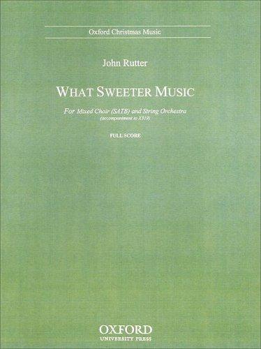 9780193860100: What sweeter music: Full score