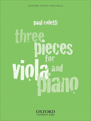 9780193866003: Three Pieces for Viola and Piano (Oxford Music for Viola)