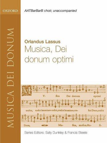 9780193868168: Musica, Dei donum optimi: Vocal score