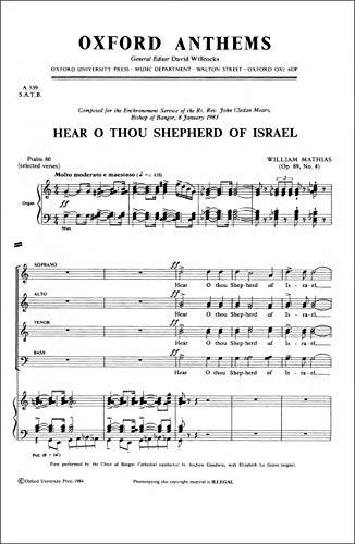 9780193870697: Hear O thou Shepherd of Israel: Vocal score