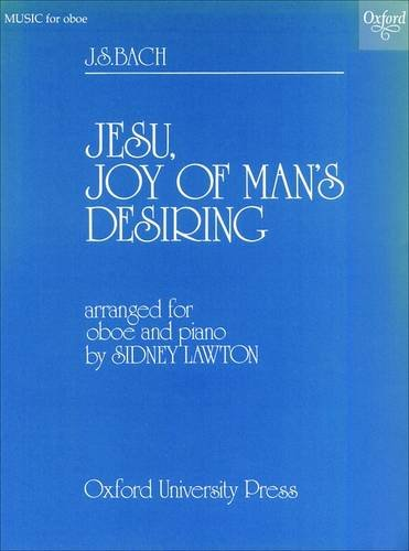 Jesu, Joy of Man's Desiring: Oboe and piano (0193870835) by Sidney Lawton