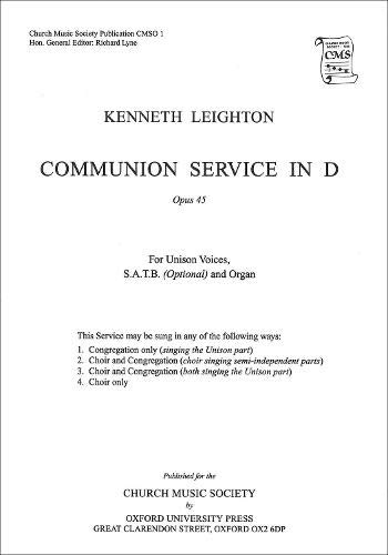 9780193952317: Communion Service in D Op. 45 (Church Music Society)