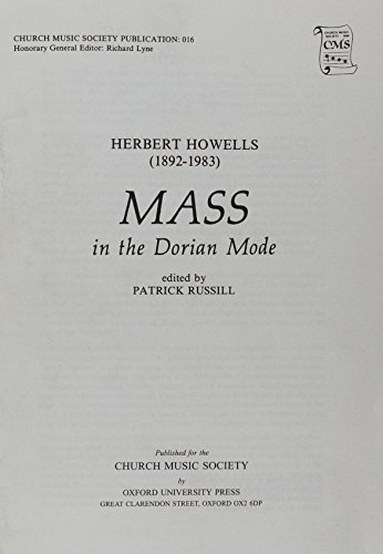 9780193952522: Mass in the Dorian Mode: Vocal score (Church Music Society publications)