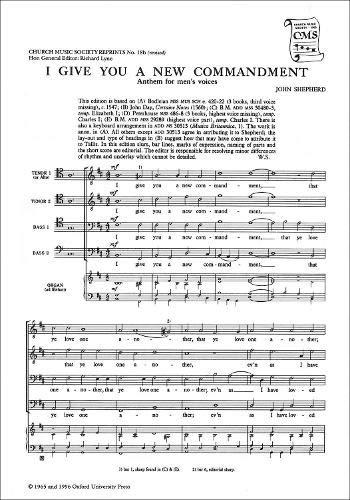 I Give You a New Commandment (Church: Watkins Shaw