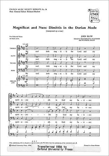 Magnificat and Nunc Dimittis in Dorian Mode: John Blow
