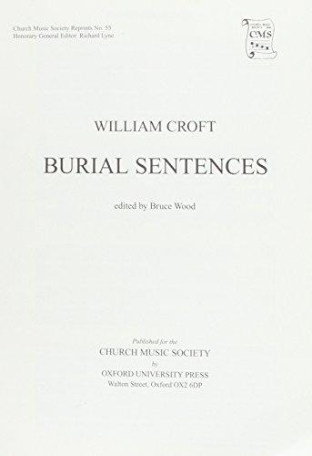9780193953192: Burial Sentences: Vocal score (Church Music Society publications)