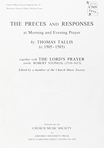 Preces and Responses: Contains the Lord's Prayer