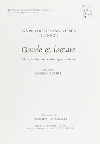 9780193953406: Gaude et laetare: Vocal score (Church Music Society publications)