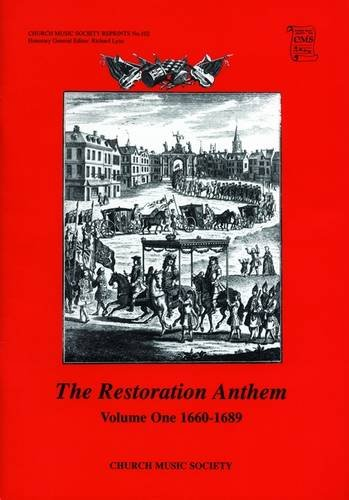 9780193953796: The Restoration Anthem Volume 1 1660-1689 (Church Music Society) (v. 1)