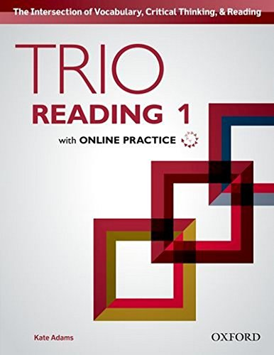 9780194000789: Trio Reading 1 Student Book with Online Practice