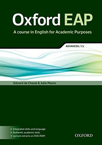 9780194001793: Oxford EAP. C1. Student's book. Per le Scuole superiori. Con DVD-ROM: A Course in English for Academic Purposes