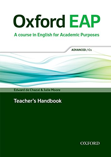 9780194001823: Oxford EAP: Advanced/C1: Teacher's Book, DVD and Audio CD Pack