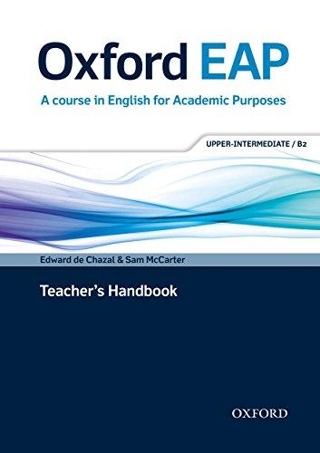 9780194001830: Oxford EAP: Upper-Intermediate/B2: Teacher's Book, DVD and Audio CD Pack