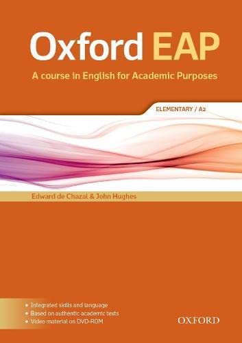 9780194002042: Oxford EAP: Elementary/A2: Student's Book and DVD-ROM Pack