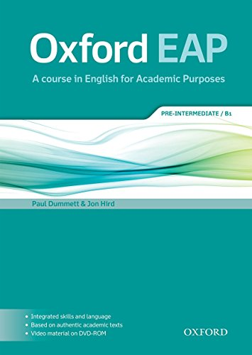 9780194002073: Oxford EAP: Oxford English for Academic Purposes Pre-Intermediate. Student's Book + DVD Pack