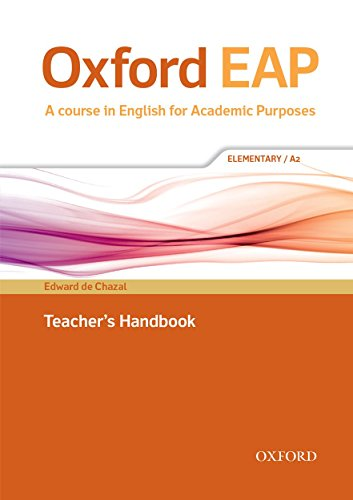 9780194002103: Oxford EAP: Elementary/A2: Teacher's Book, DVD and Audio CD Pack