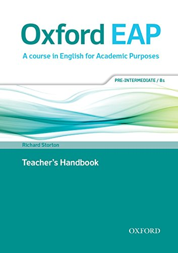 9780194002141: Oxford EAP: Pre-Intermediate/B1: Teacher's Book, DVD and Audio CD Pack