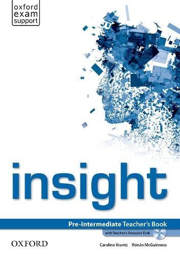 9780194010771: Insight Pre-Intermediate: Teacher's Book and Teacher's Resource Disk Pack