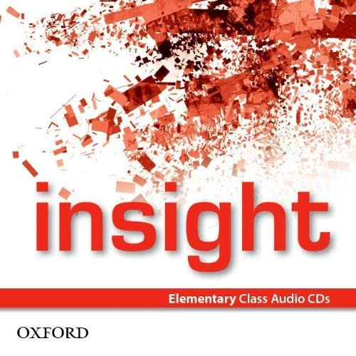 9780194010962: Insight Elementary. Class CD