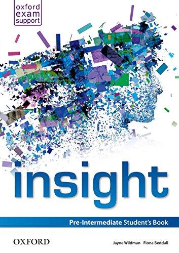 Insight: Pre-Intermediate: Student's Book: JAYNE WILDMAN