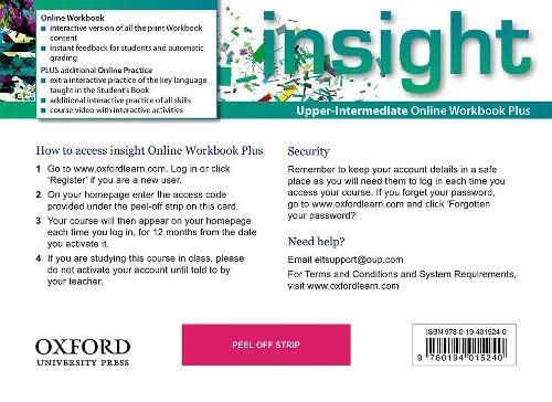 9780194015240: insight: Upper-Intermediate: Online Workbook Plus - Access Code
