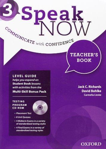 9780194030205: Speak Now: 3: Teacher's Book with Testing CD-ROM