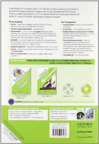 9780194043564: Smart english. Student's book-Workbook-Culture book. Con espansione online. Con CD Audio. Per la Scuola media: 3