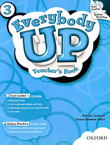 9780194103626: Everybody Up 3 Teacher's Book with Test Center CD-ROM: Language Level: Beginning to High Intermediate. Interest Level: Grades K-6. Approx. Reading Level: K-4