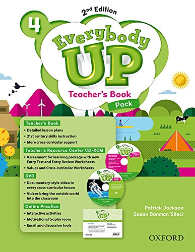 9780194107020: Everybody Up: Level 4: Teacher's Book Pack with DVD, Online Practice and Teacher's Resource Center CD-ROM: Linking your classroom to the wider world