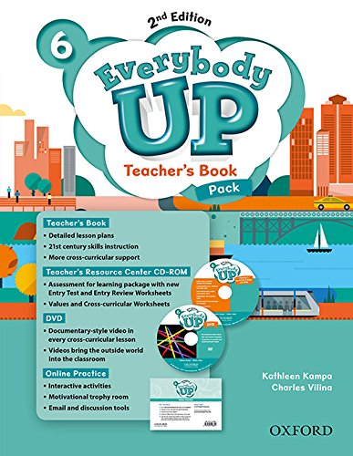 9780194107044: Everybody Up: Level 6: Teacher's Book Pack with DVD, Online Practice and Teacher's Resource Center CD-ROM: Linking your classroom to the wider world