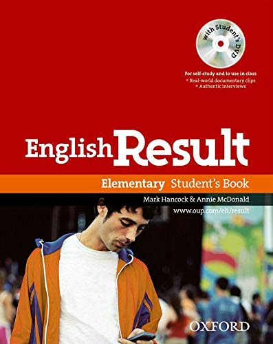 9780194129541: English Result: Elementary: Student's Book with DVD Pack: General English four-skills course for adults